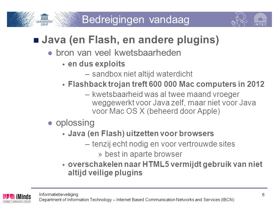Java (en Flash, en andere plugins)