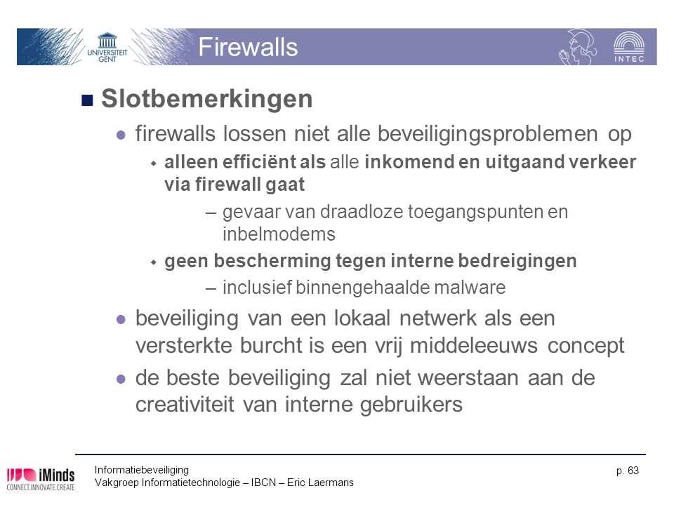 Firewalls Slotbemerkingen