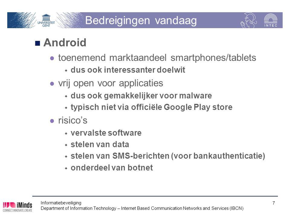Bedreigingen vandaag Android