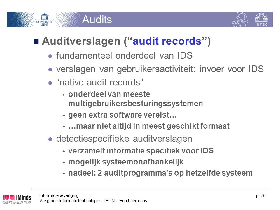 Auditverslagen ( audit records )
