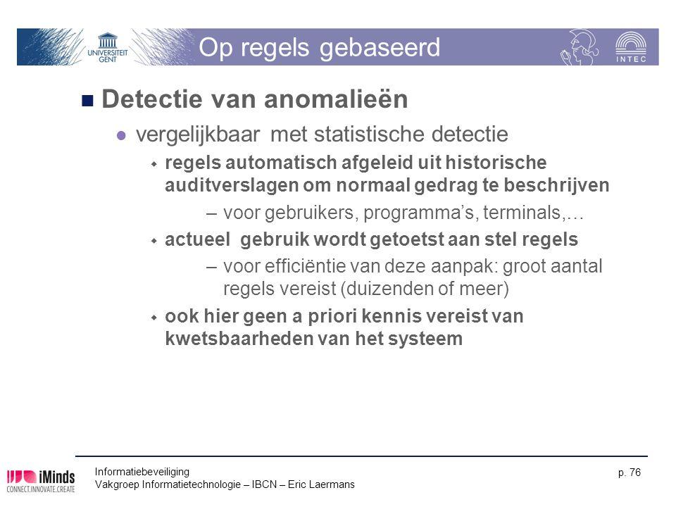 Detectie van anomalieën