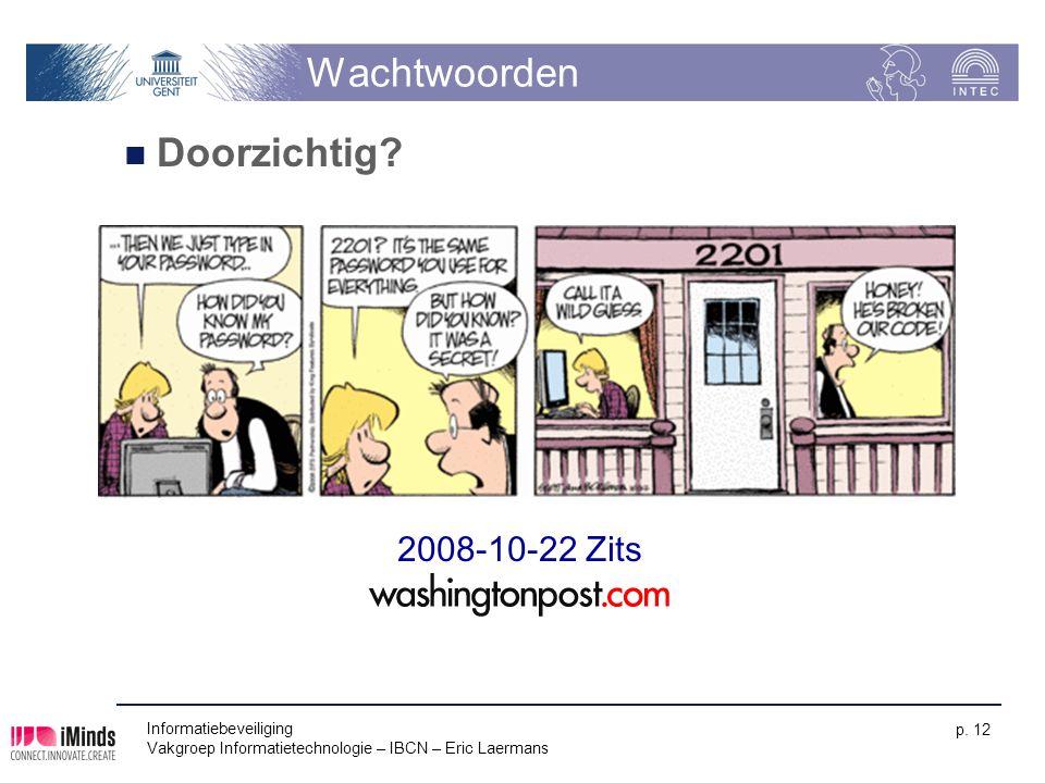 Wachtwoorden Doorzichtig 2008-10-22 Zits Informatiebeveiliging