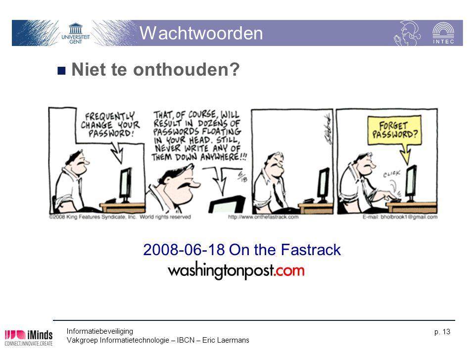Wachtwoorden Niet te onthouden 2008-06-18 On the Fastrack