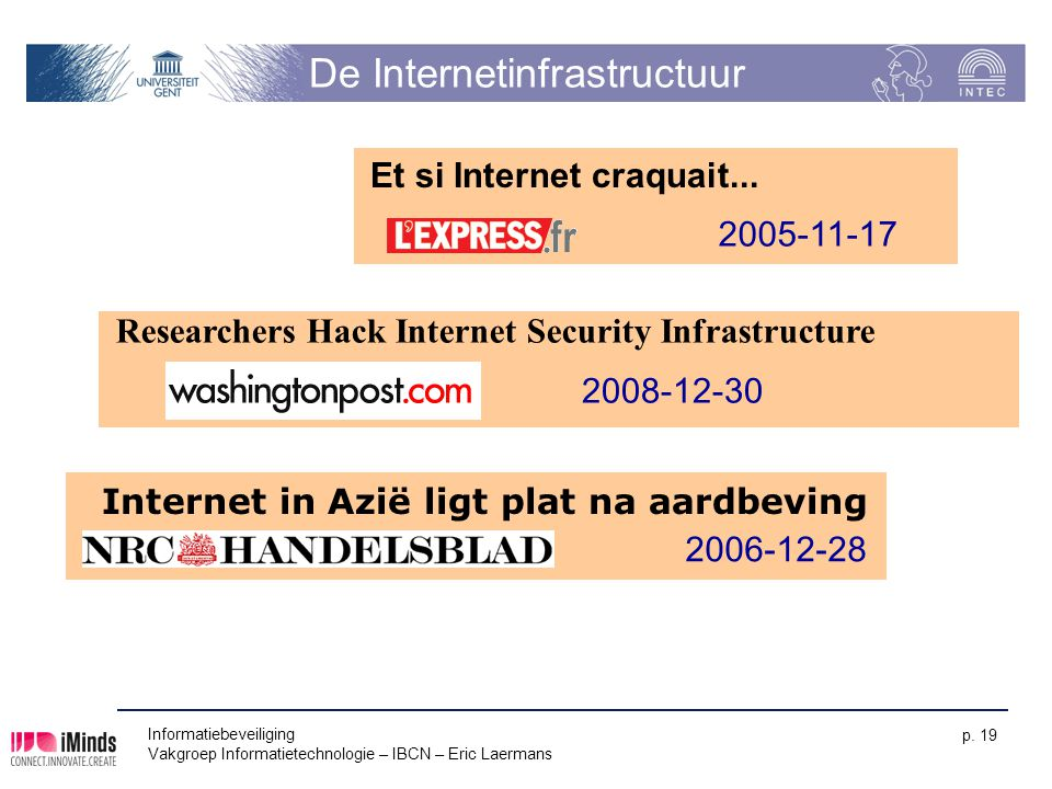 De Internetinfrastructuur