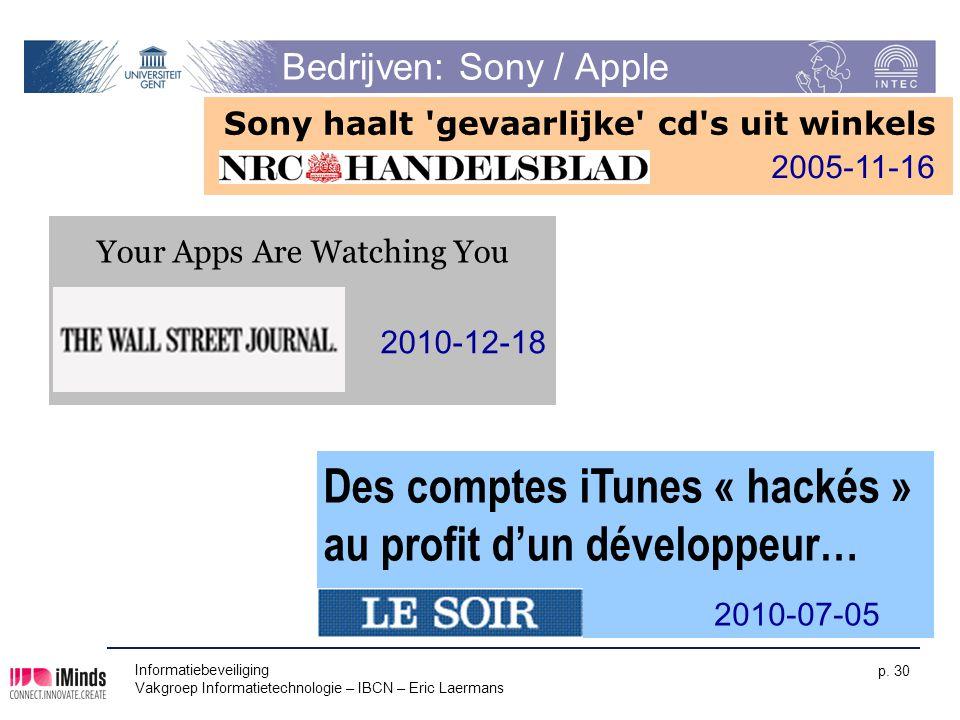 Bedrijven: Sony / Apple