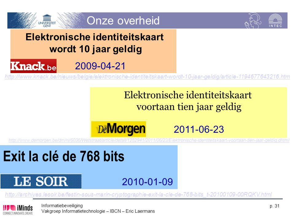 Elektronische identiteitskaart wordt 10 jaar geldig