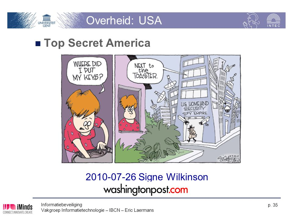 Overheid: USA Top Secret America 2010-07-26 Signe Wilkinson