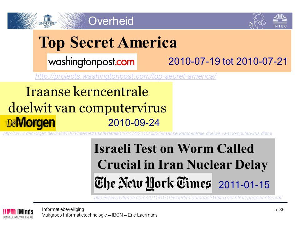 Iraanse kerncentrale doelwit van computervirus