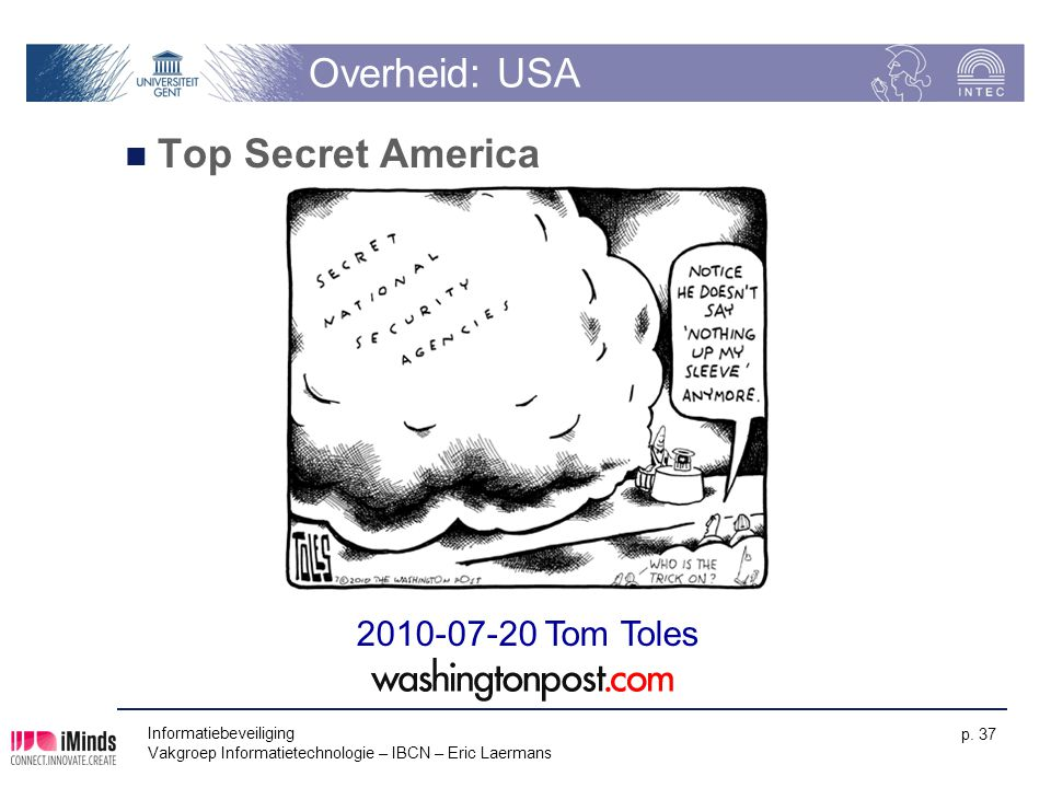 Overheid: USA Top Secret America 2010-07-20 Tom Toles