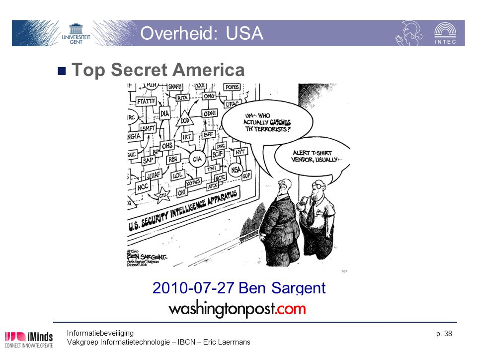 Overheid: USA Top Secret America 2010-07-27 Ben Sargent