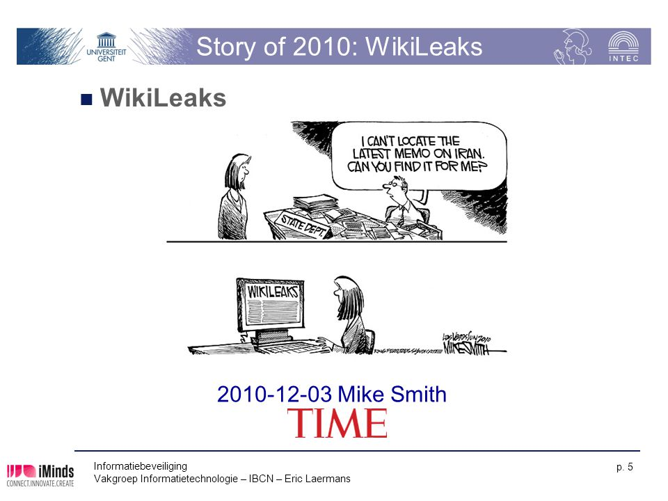 Story of 2010: WikiLeaks WikiLeaks 2010-12-03 Mike Smith