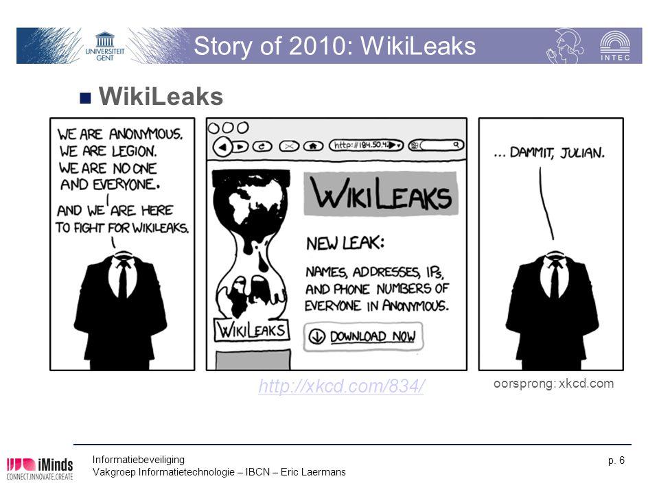 Story of 2010: WikiLeaks WikiLeaks http://xkcd.com/834/