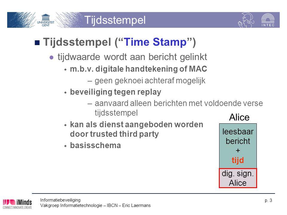 Tijdsstempel ( Time Stamp )