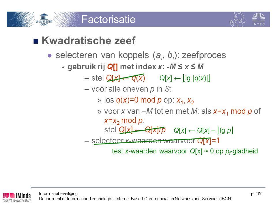 Factorisatie Kwadratische zeef