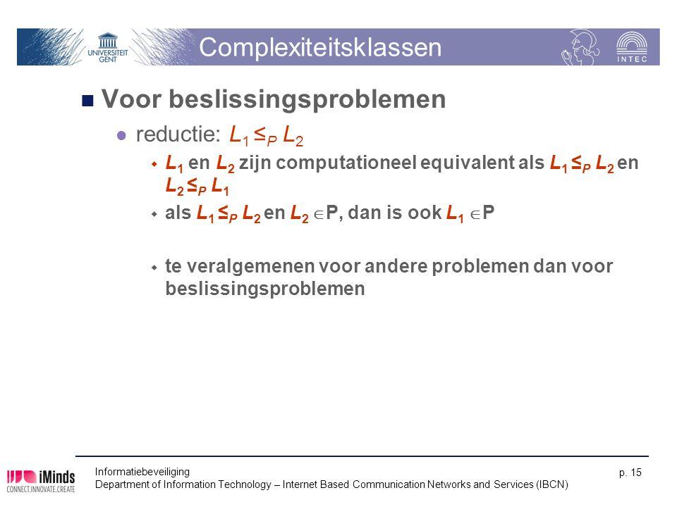 Complexiteitsklassen