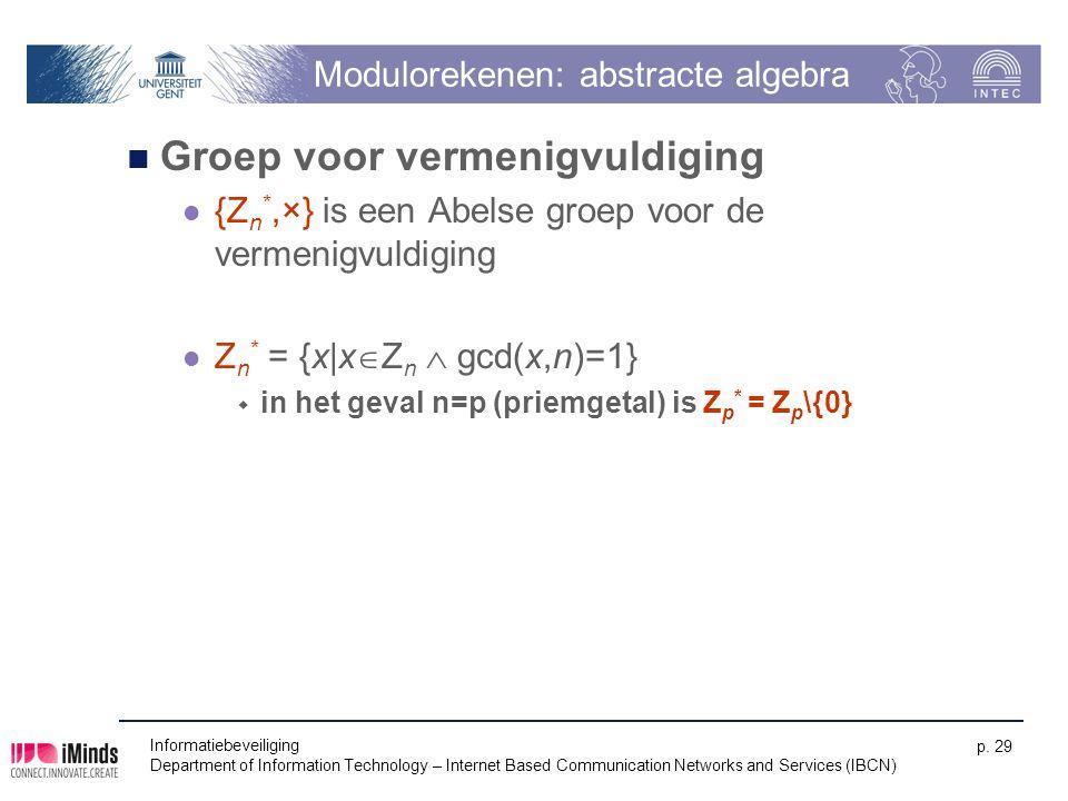 Modulorekenen: abstracte algebra