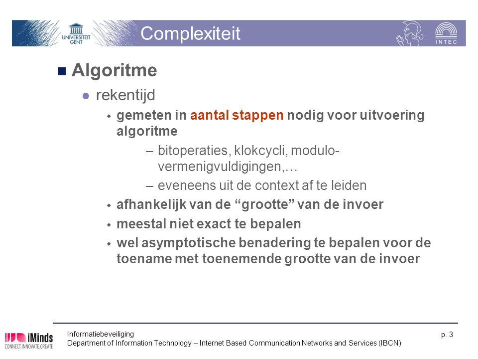 Complexiteit Algoritme rekentijd