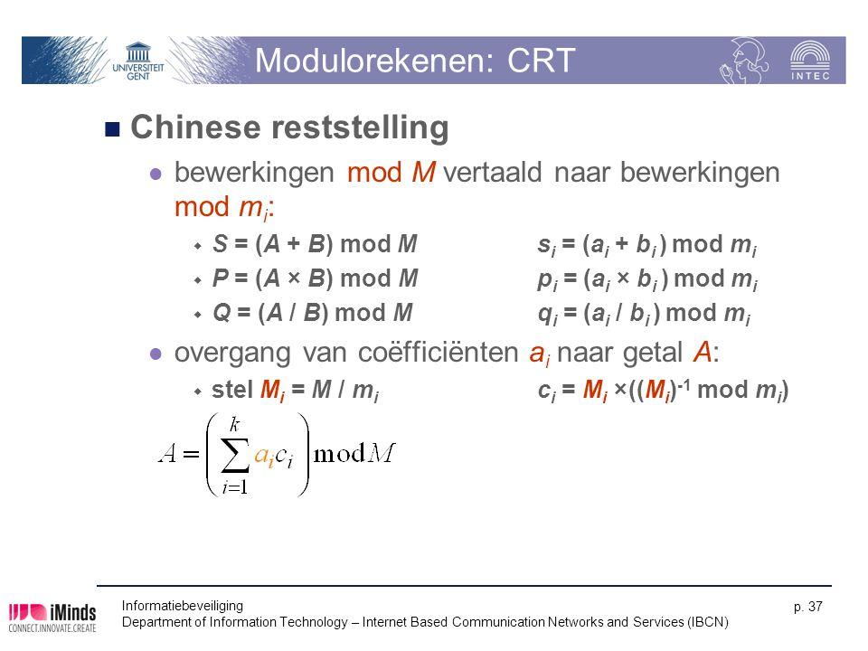 Modulorekenen: CRT Chinese reststelling