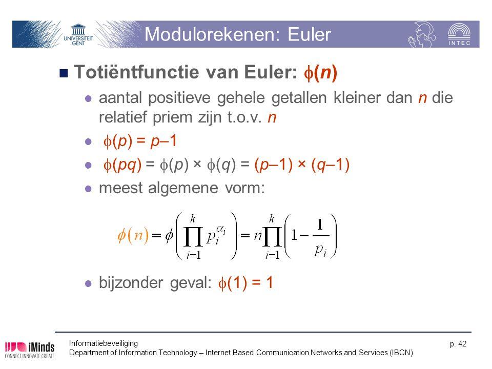 Totiëntfunctie van Euler: f(n)