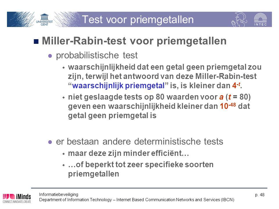 Test voor priemgetallen