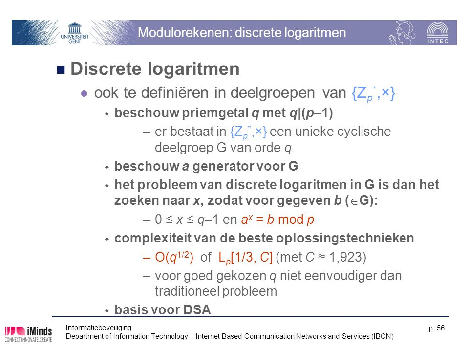 Modulorekenen: discrete logaritmen