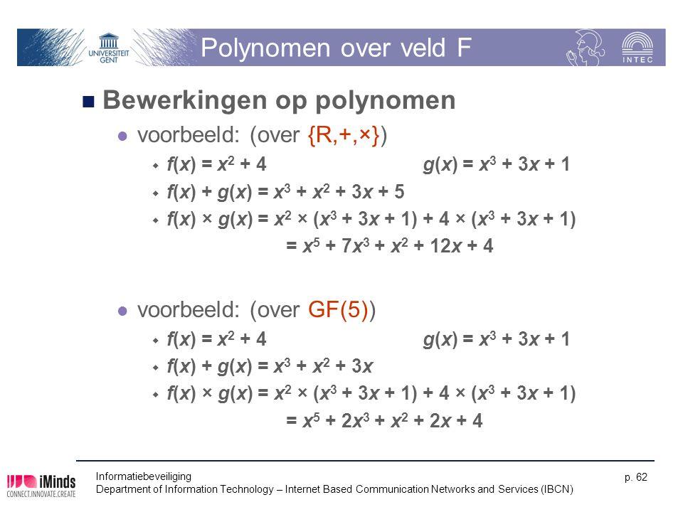 Bewerkingen op polynomen