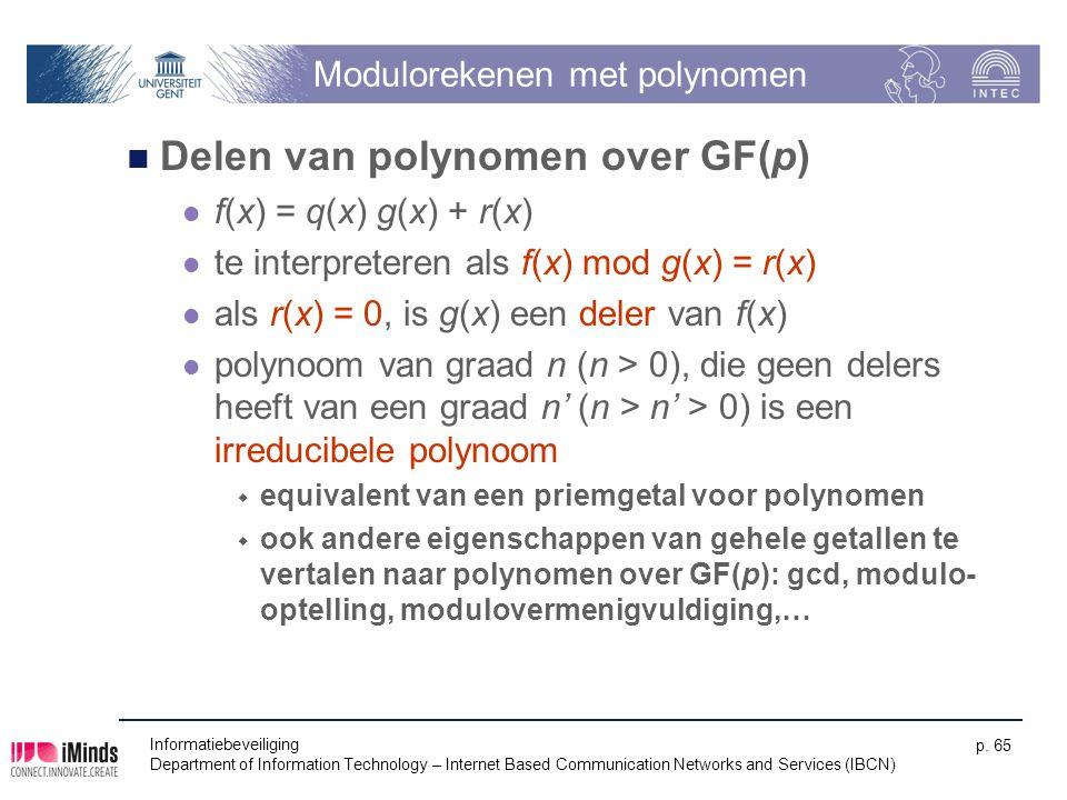 Modulorekenen met polynomen