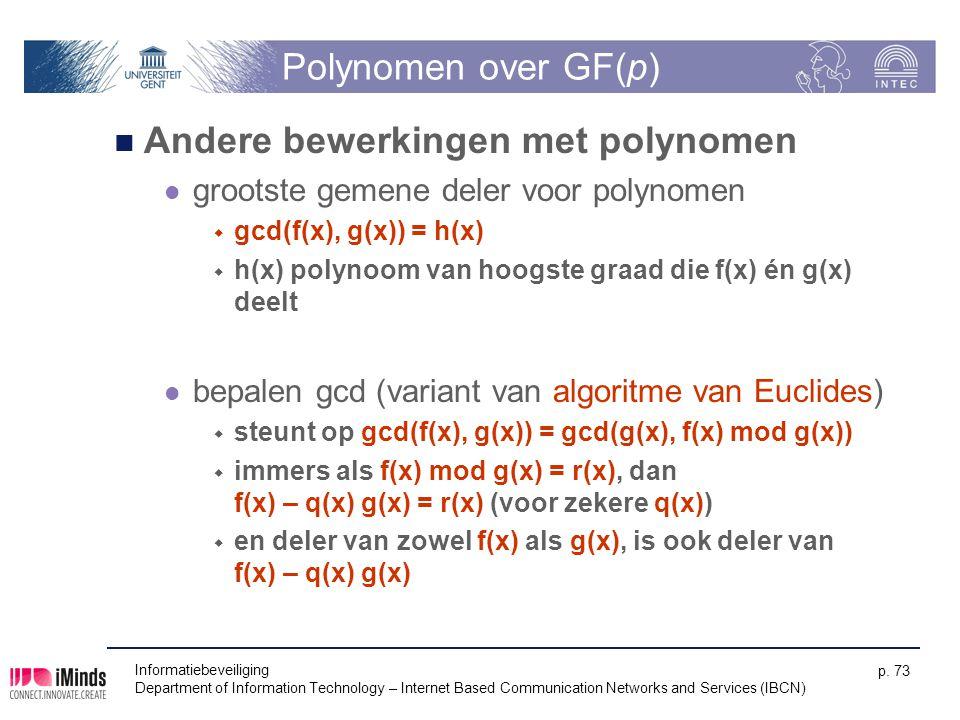 Andere bewerkingen met polynomen