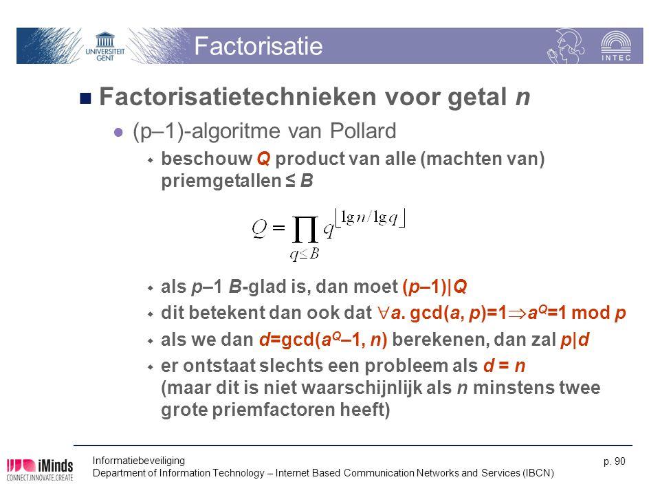 Factorisatietechnieken voor getal n