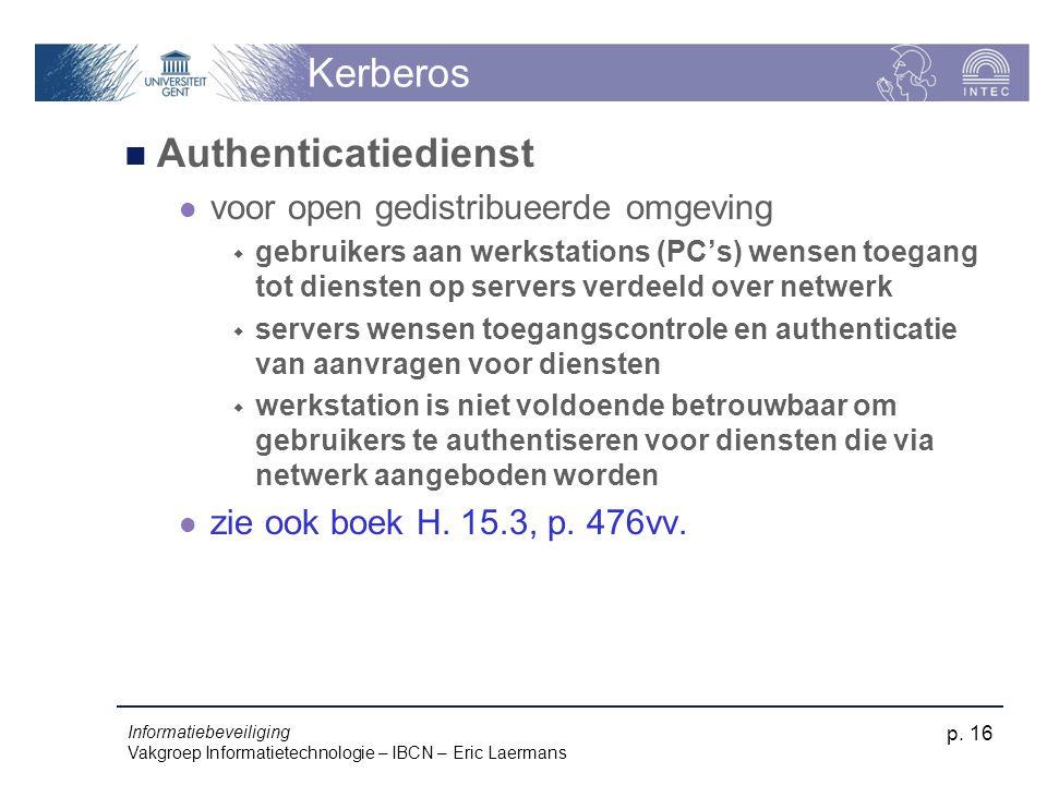 Kerberos Authenticatiedienst voor open gedistribueerde omgeving