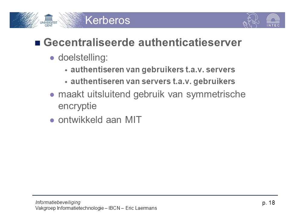 Gecentraliseerde authenticatieserver