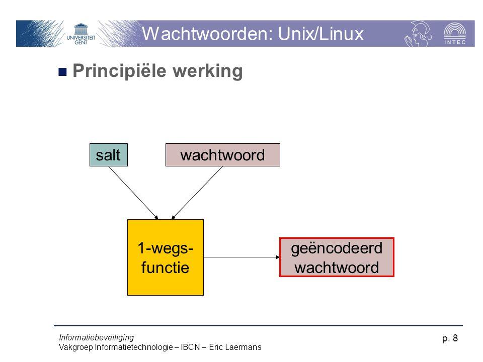 Wachtwoorden: Unix/Linux