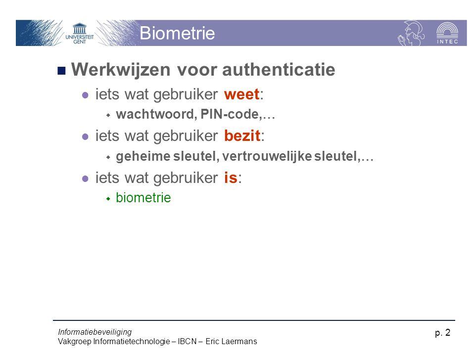Werkwijzen voor authenticatie