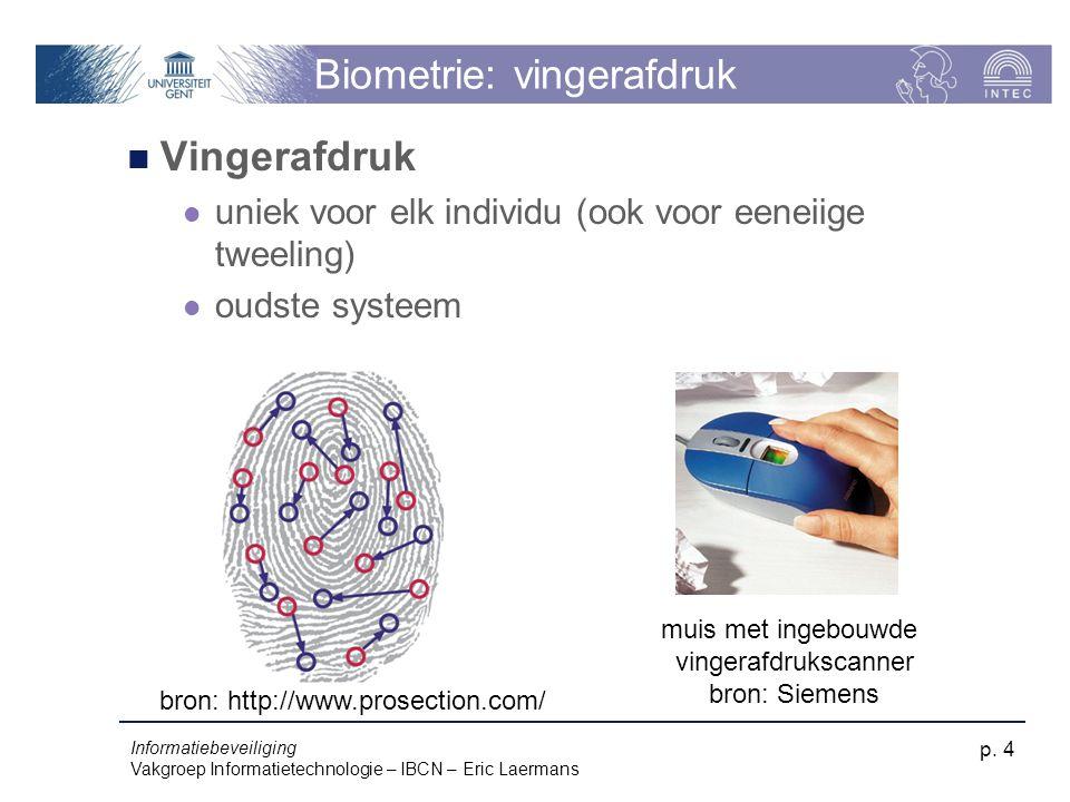 Biometrie: vingerafdruk