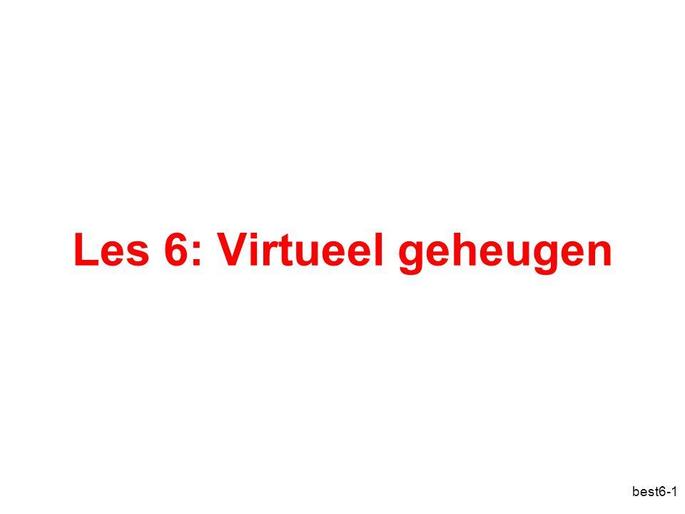 Les 6: Virtueel geheugen
