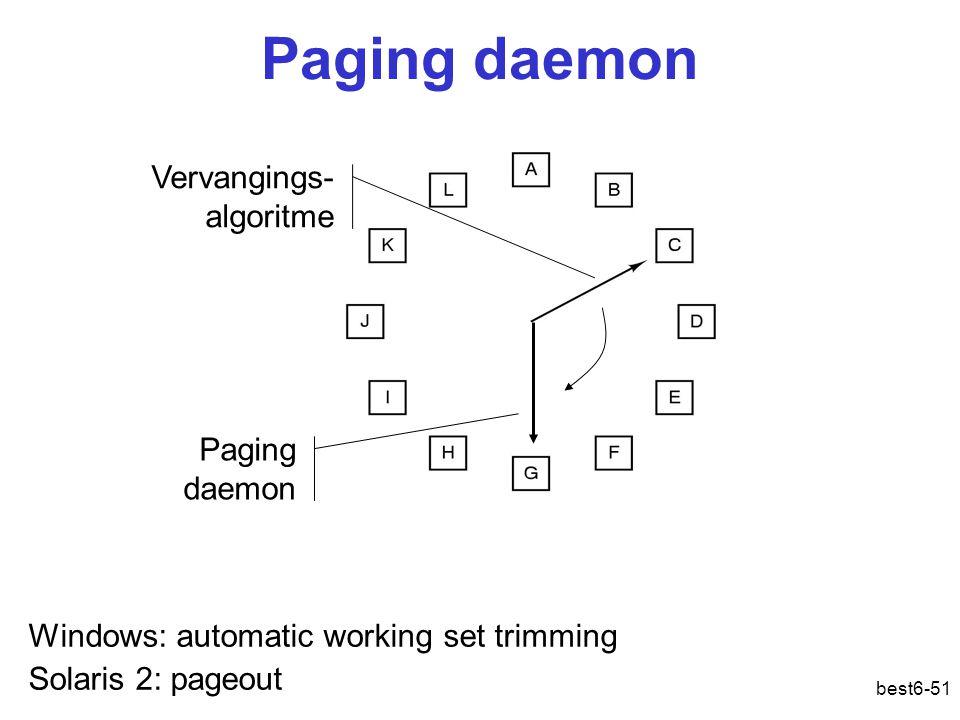 Paging daemon Vervangings-algoritme Paging daemon