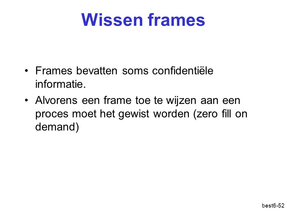 Wissen frames Frames bevatten soms confidentiële informatie.