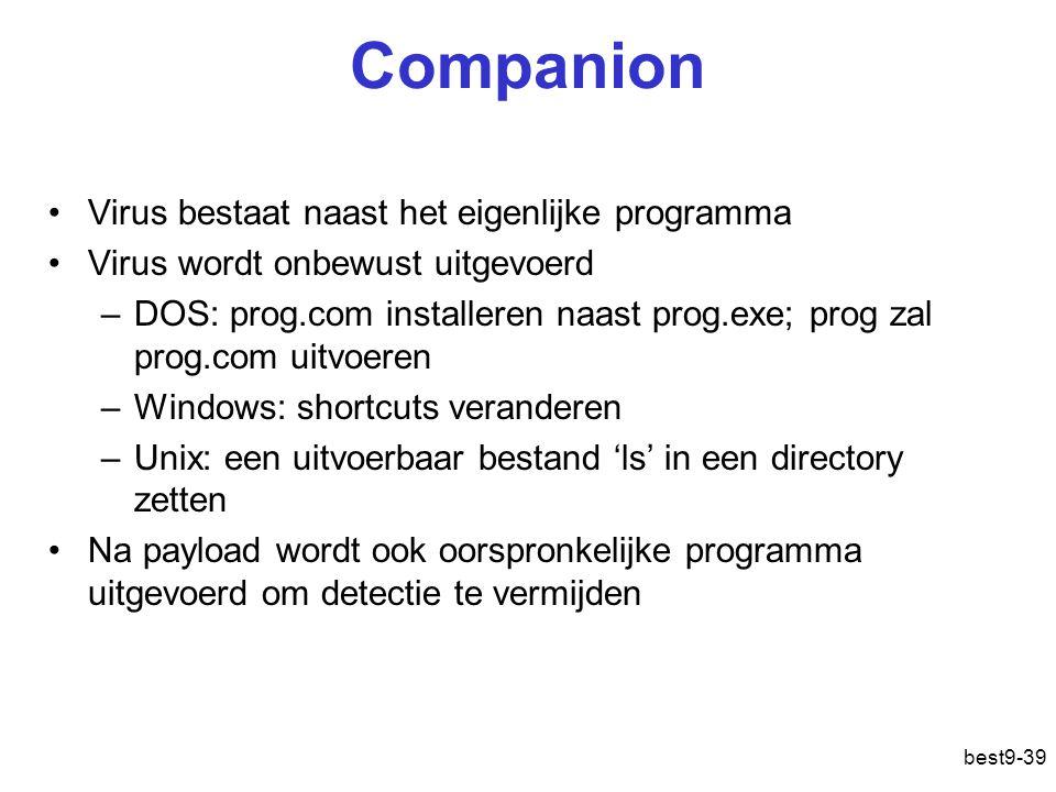 Companion Virus bestaat naast het eigenlijke programma
