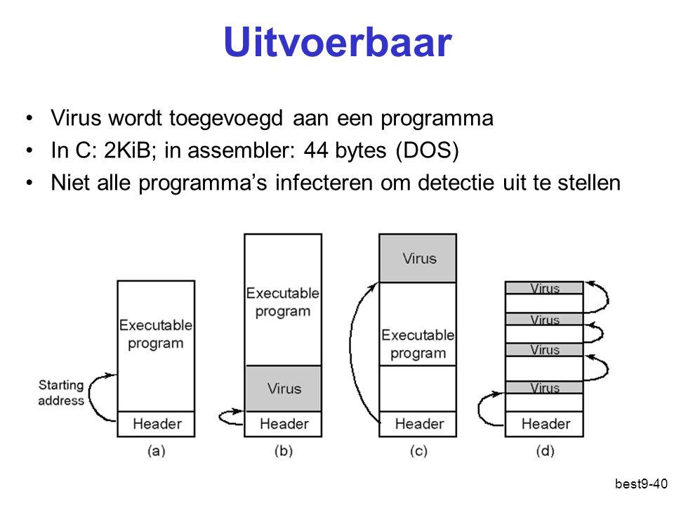 Uitvoerbaar Virus wordt toegevoegd aan een programma