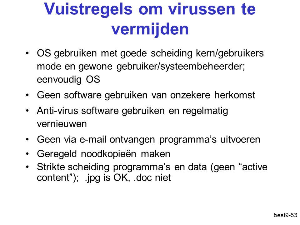 Vuistregels om virussen te vermijden