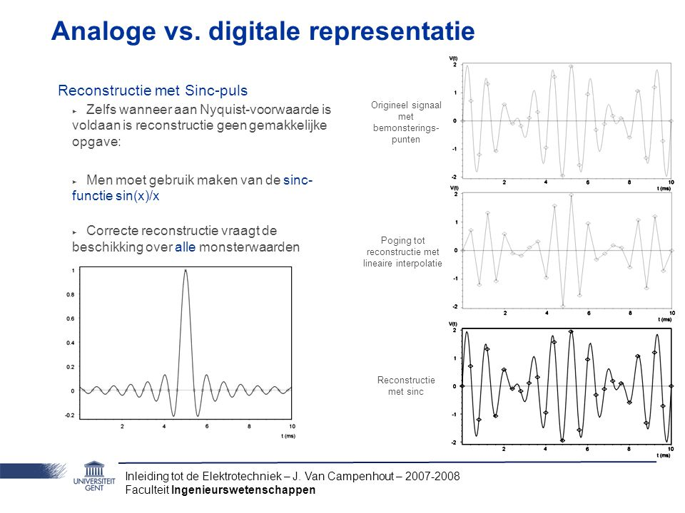 Analoge vs. digitale representatie