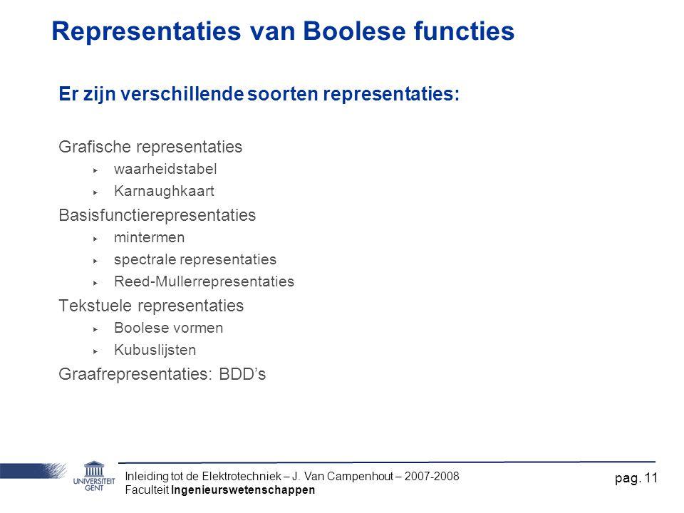 Representaties van Boolese functies