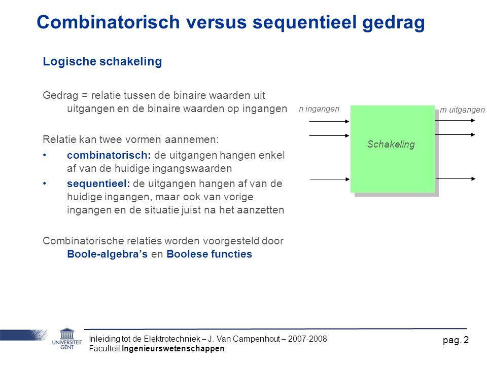 Combinatorisch versus sequentieel gedrag
