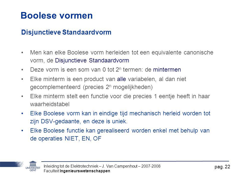 Boolese vormen Disjunctieve Standaardvorm