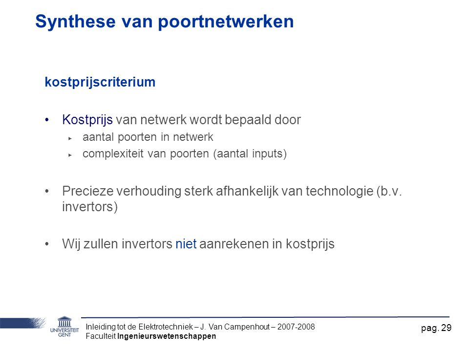 Synthese van poortnetwerken