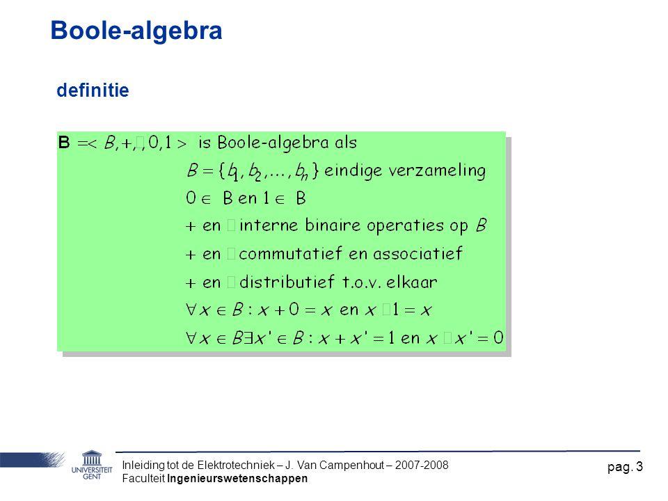 Boole-algebra definitie