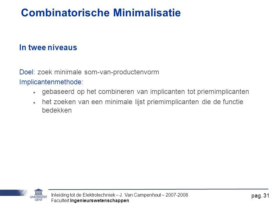 Combinatorische Minimalisatie