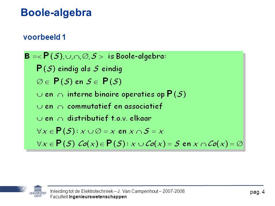 Boole-algebra voorbeeld 1