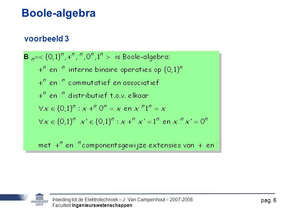 Boole-algebra voorbeeld 3