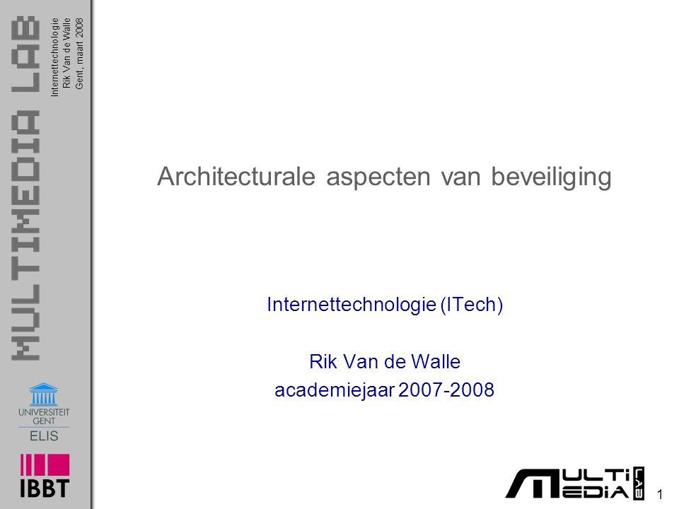 Architecturale aspecten van beveiliging